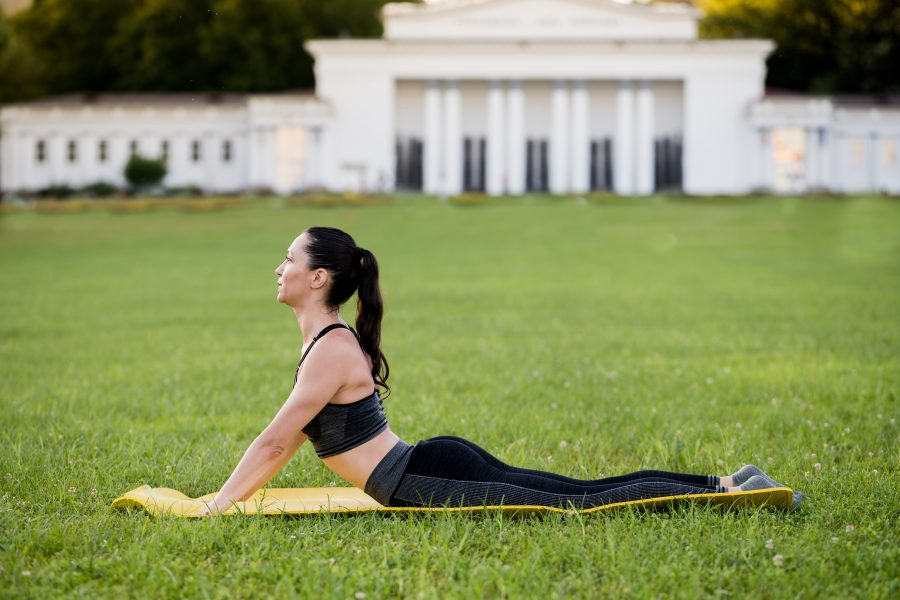Pilates for Runners - the Swan