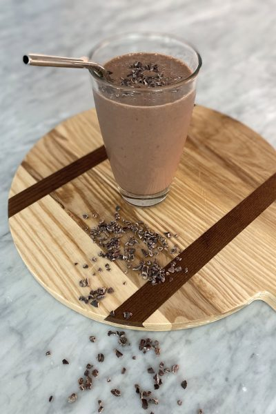 Decadent Chocolate Covered Cherry Recovery Smoothie