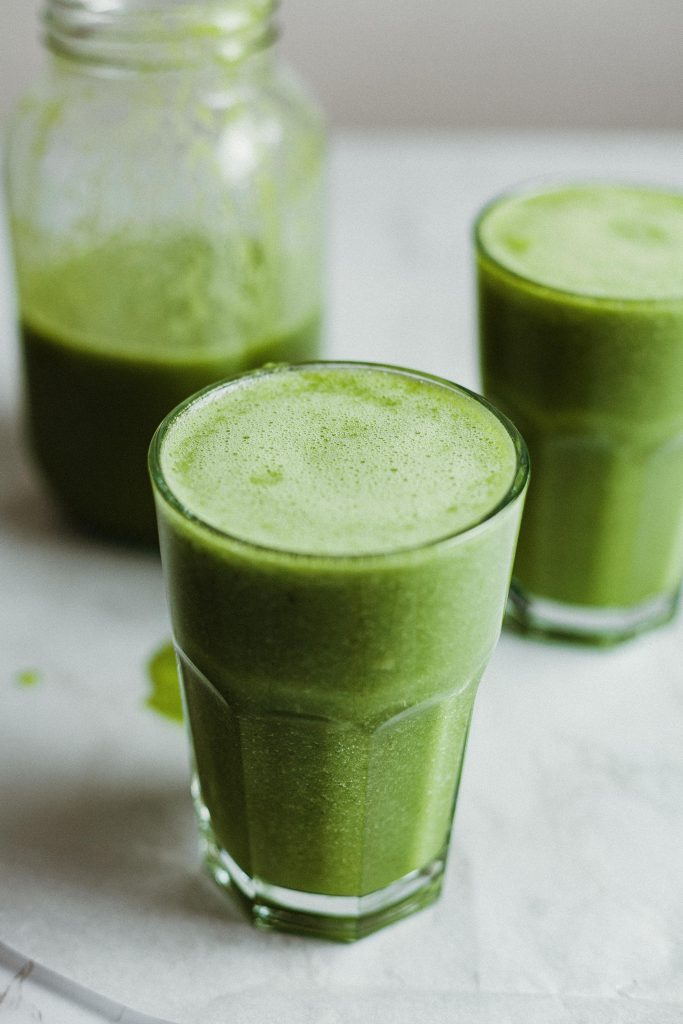 Post-run recovery food - green smoothie