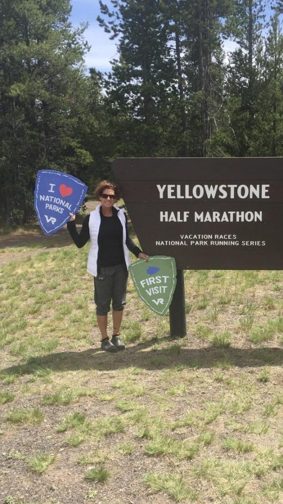 Janet's first visit to Yellowstone