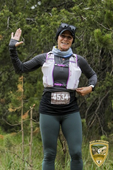 Janet - a 2021 finisher at Yellowstone Half Marathon by Vacation Races