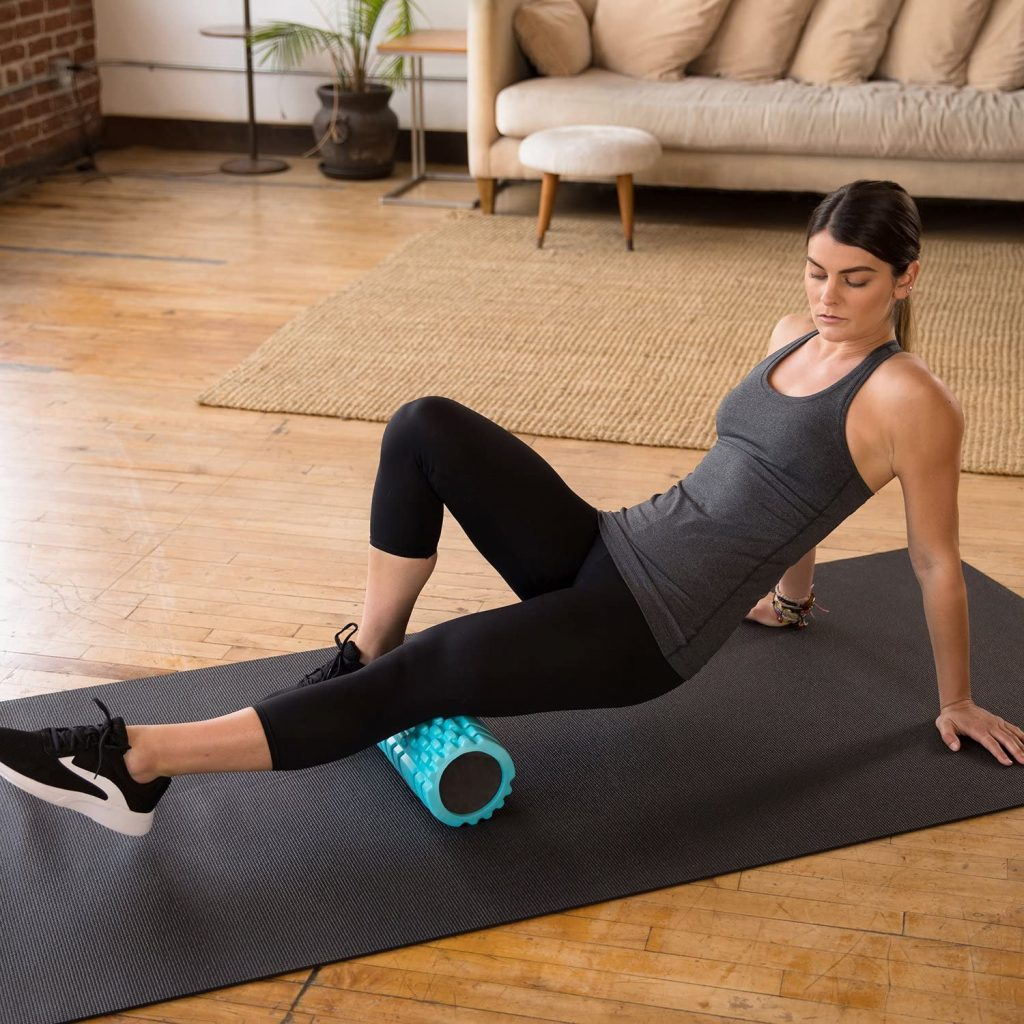 Foam rolling to promote mobility for runners