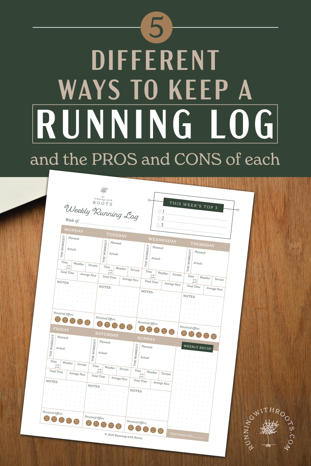 5 Different ways to keep a running log
